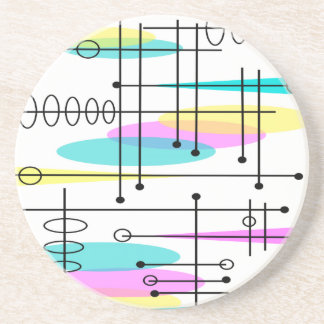 Colores y diseño atómicos del extracto de la era posavaso para bebida