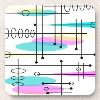 Colores y diseño atómicos del extracto de la era posavasos