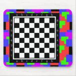 colores y formas, tabla clásica del ajedrez alfombrilla de raton