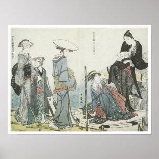 Colores y olores de las flores, Utamaro, 1784 Póster