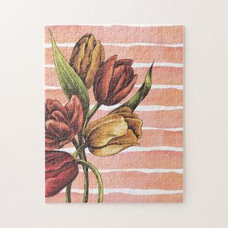 Colores y tulipanes del otoño puzzle con fotos
