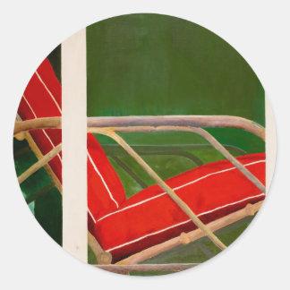 colorete del fauteuil pegatina redonda