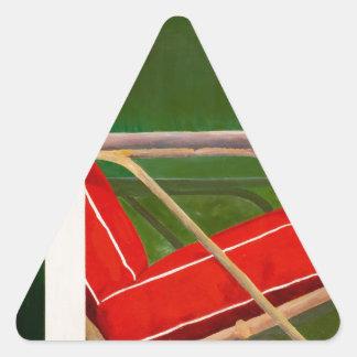 colorete del fauteuil pegatina triangular