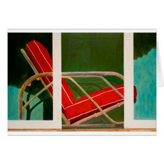 colorete del fauteuil tarjeta de felicitación