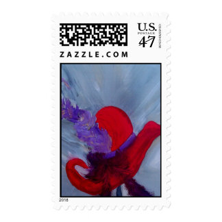 colorete del sombrero del conjunto timbre postal