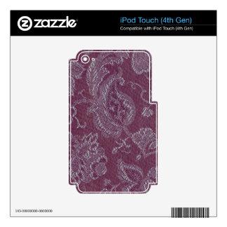 Colorete floral del ciruelo del vintage retro iPod touch 4G calcomanía