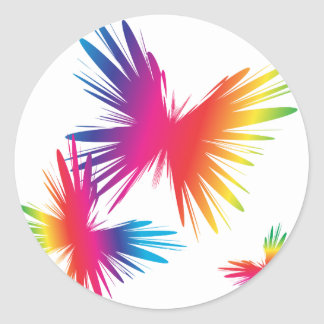 ColorFly-1 Pegatina Redonda