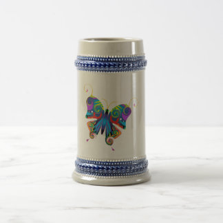 Colorfly Beer Stein