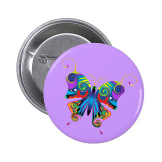 Colorfly Pinback Button
