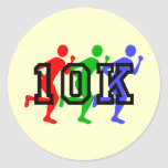 Colorful 10K runners Classic Round Sticker
