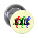 Colorful 10K runners Pinback Button