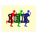 Colorful 10K runners Postcard