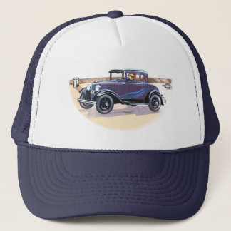 Colorful 1920s Vintage Automobile Sports Team Club Trucker Hat