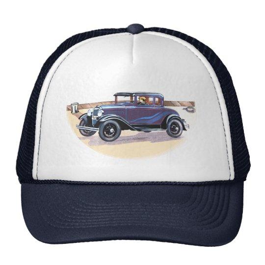 Colorful 1920s Vintage Automobile Sports Team Club Trucker Hat
