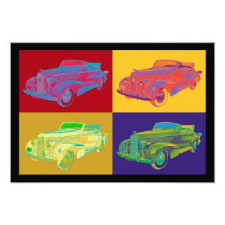 Colorful 1938 Cadillac Lasalle Pop Art Photo Print