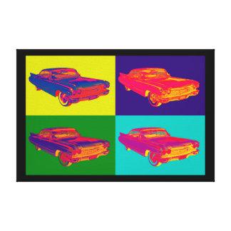 Colorful 1960 Cadillac Luxury Car Pop Art Canvas Print