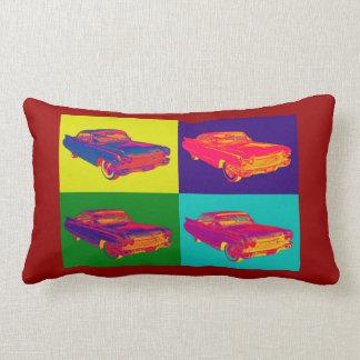 Colorful 1960 Cadillac Luxury Car Pop Art Pillow