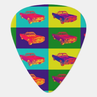 Colorful 1965 Ford Mustang Convertible Pop Art Pick