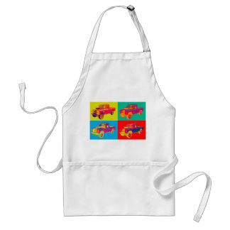 Colorful 1971 Land Rover Pickup Truck Pop Art Adult Apron