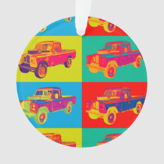 Colorful 1971 Land Rover Pickup Truck Pop Art