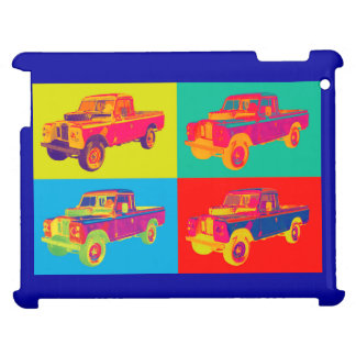 Colorful 1971 Land Rover Pickup Truck Pop Art Cover For The iPad