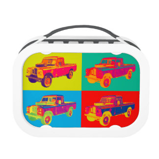 Colorful 1971 Land Rover Pickup Truck Pop Art Yubo Lunchboxes