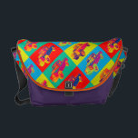 "Colorful 1971 Land Rover Pickup Truck Pop Art Messenger Bag<br><div class=""desc"">Colorful 1971 Land Rover Pickup Truck modern pop art image.</div>"