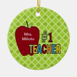 1 Teacher Ornaments & Keepsake Ornaments | Zazzle