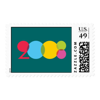 Colorful 2008 postage