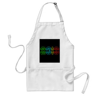 Colorful 2013 adult apron