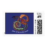 Colorful 2013 Snake stamp