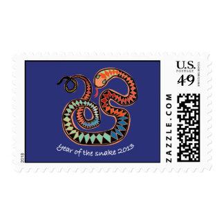 Colorful 2013 Snake stamp