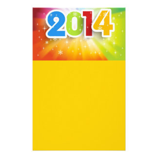 COLORFUL 2014 YEAR VECTOR STATIONERY