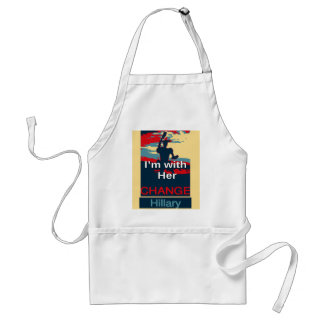 Colorful 2016 I am with her Vote for Hillary USA S Adult Apron