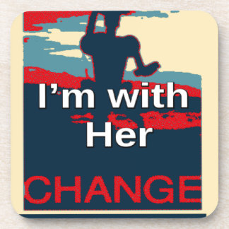 Colorful 2016 I am with her Vote for Hillary USA S Drink Coaster