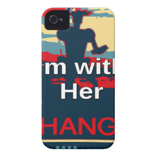 Colorful 2016 I am with her Vote for Hillary USA S iPhone 4 Case