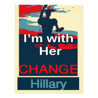 Colorful 2016 I am with her Vote for Hillary USA S Letterhead