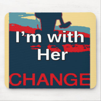 Colorful 2016 I am with her Vote for Hillary USA S Mouse Pad