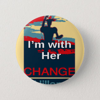 Colorful 2016 I am with her Vote for Hillary USA S Pinback Button