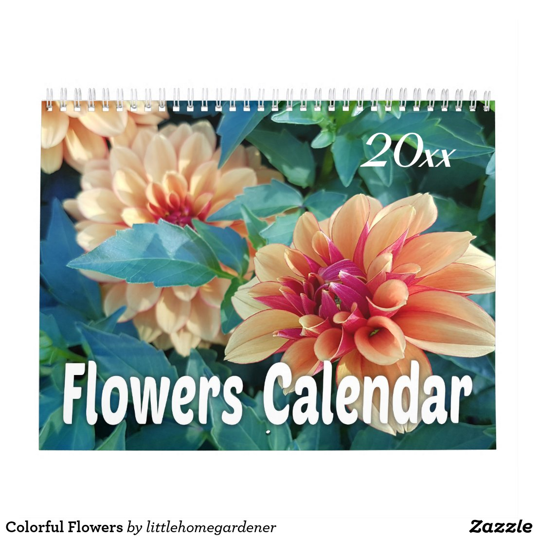 Colorful 2018 Flowers Calendar