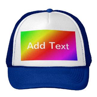 Colorful 2 Diagonal Stripes Trucker Hat