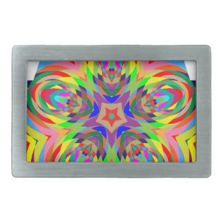 colorful #2 rectangular belt buckle