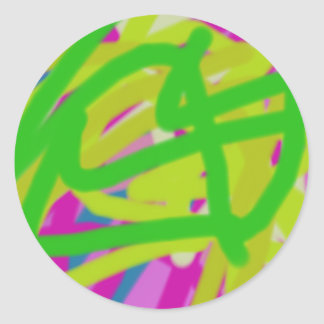colorful 3748 abstract art classic round sticker