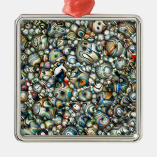 Colorful 3D Abstract Metal Ornament