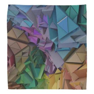 Colorful 3D abstract shapes Bandana