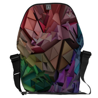 Colorful 3D abstract shapes  Messenger Bag
