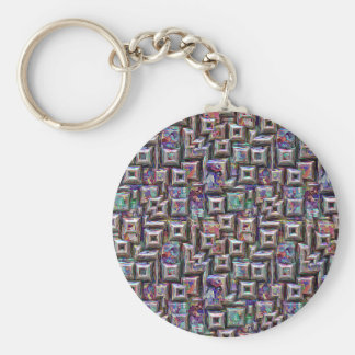 Colorful 3D Abstract Structure Keychain