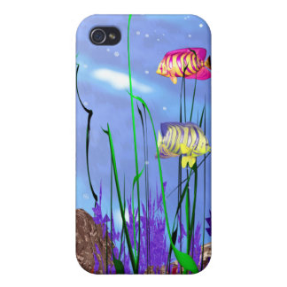 Colorful 3d Angelfish Cover For iPhone 4