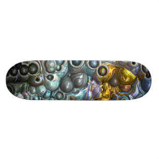 Colorful 3D Clusters Skateboard Deck
