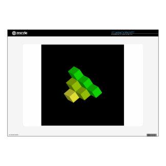 """colorful 3d cubes 15"""" laptop skin"""